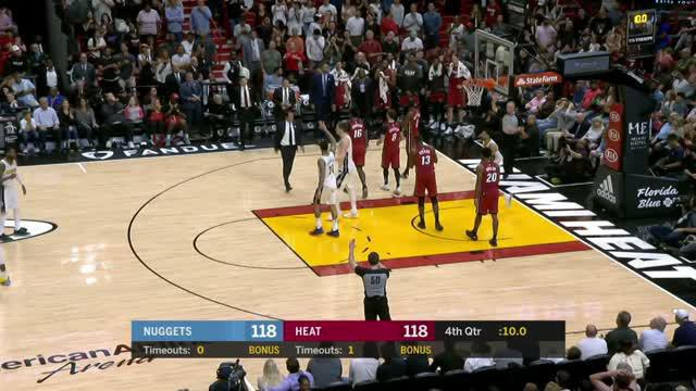 Berita video game recap NBA 2017-2018 antara Miami Heat melawan Denver Nuggets dengan skor 149-141.