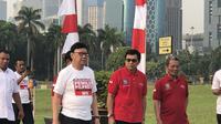 Mendagri Tjahjo Kumolo Saat di Silang Monas, Jakarta. (Foto: Ratu Annisaa Suryasumirat/Liputan6.com)