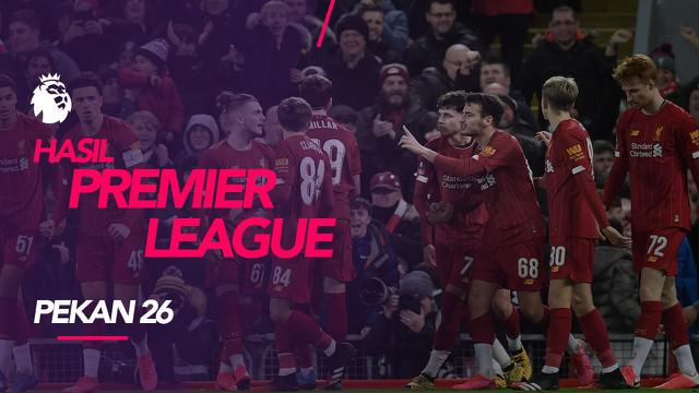 Berita video hasil Premier League 2019-2020 pekan ke-26. Liverpool menang 1-0 di kandang Norwich City, Minggu (16/2/2020).