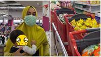 Pakai 18 trolly, ini momen Kartika Putri ditemani suami dan asistennya belanja. (Sumber: YouTube/Kartika Putri Official)
