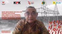 Rapat Monitoring dan Evaluasi Sertifikasi Tanah PLN di Wilayah Kalimantan, Rabu (25/08/2021).