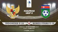 Kualifikasi Piala AFC U-19: Indonesia vs Korea Utara. (Bola.com/Dody Iryawan)