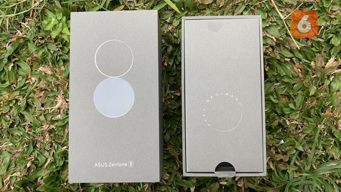 Boks pembelian Zenfone 8. (Liputan6.com/ Yuslianson)