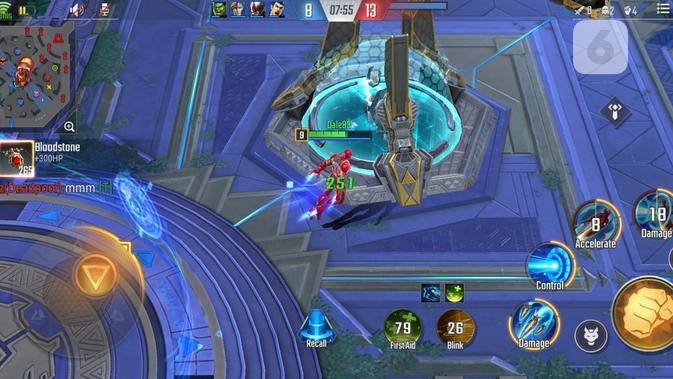 Marvel Future Fight di Galaxy A71. (Liputan6.com / Yuslianson)