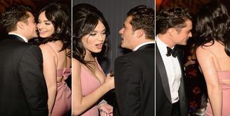 Pasangan selebriti Hollywood yang tengah dimabuk cinta, siapa lagi kalau bukan Orlando Bloom dan Katy Perry. Kedua pasangan ini menghebohkan publik dengan foto-foto bugil dan kemesraannya didepan umum. (Dailymail)