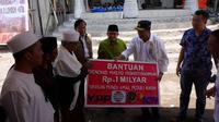 Menhub menterahkan bantuan untuk korban gempa Lombok.