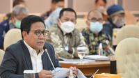 Mendes PDTT Abdul Halim Iskandar mengikuti rapat kerja Pansus Rancangan Undang-Undang
