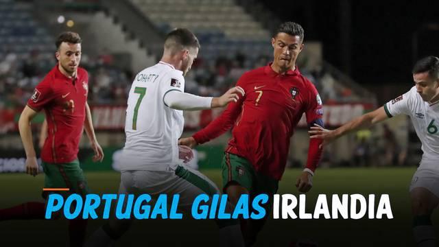 Timnas Portugal sukses menumbangkan Irlandia dalam laga kualifikasi piala dunia 2022 Kamis (2/9) dini hari. Cristiano Ronaldo menjadi penentu kemenangan dengan mencetak 2 gol di ujung pertandingan.