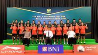 Pelepasan tim Indonesia untuk Piala Thomas dan Uber 2020, di Pelatnas PBSI Cipayung, Jakarta Timur, Senin (20/9/2021). (Media PBSI)