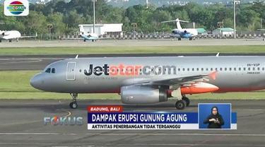 Dari hasil paper test yang dilakukan otoritas bandaram, tidak ditemukan paparan abu vulkanik di landasan pacu yang dapat mengganggu penerbangan.