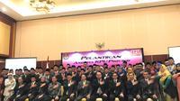 Ketua KPU RI Lantik Anggota KPU dari 16 Provinsi (Liputan6.com/Yunizafira)