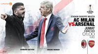 AC Milan vs Arsenal (Liputan6.com/Abdillah)