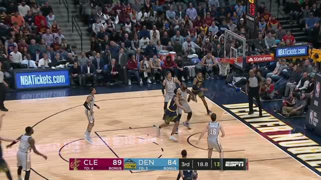 Berita video game recap NBA 2017-2018 antara Cleveland Cavaliers melawan Denver Nuggets dengan skor 113-108.
