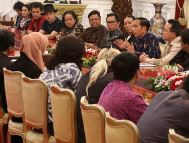 Saat Jokowi Ajak BCL hingga Glenn Fredly Dialog di Istana