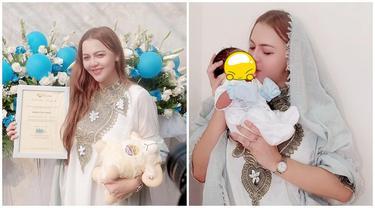 6 Momen Akikah Anak Ratu Rizky Nabilla, Tanpa Dihadiri Alfath Fathier