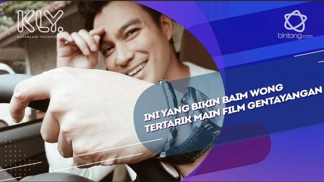 Sebagai bintang utama, Baim Wong yang sebelumnya lebih banyak memerankan film begenre drama, mengaku tertarik membintangi film Gentayangan.