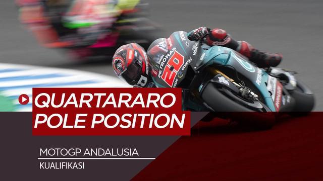 Berita Video Fabio Quartararo Tercepat di Kualifikasi MotoGP Andalusia, Valentino Rossi Posisi 4