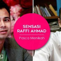 Berikut sederet sensasi dari Raffi Ahmad setelah resmi menikah. (Foto: Bintang Pictures, Desain: Muhammad Iqbal Nurfajri/Bintang.com)