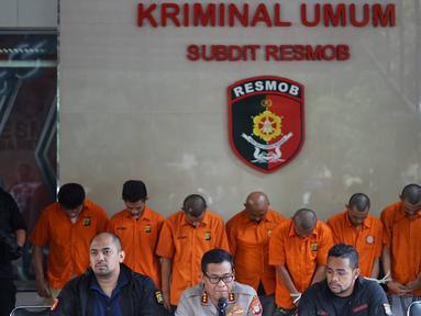 Kabid Humas Polda Metro Jaya Kombes Argo Yuwono memberikan keterangan kepada wartawan saat rilis kasus pencurian ATM dan penipuan di Polda Metro Jaya, Jakarta, Rabu (25/9/2019). (Liputan6.com/Immanuel Antonius)