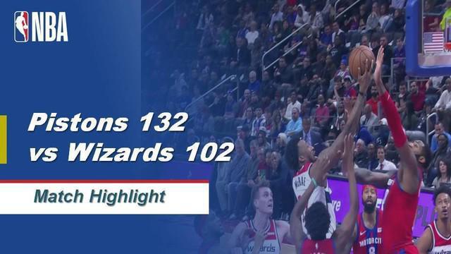 Berita Video Highlights NBA 2019-2020, Detroit Pistons Vs Washington Wizards 132-102