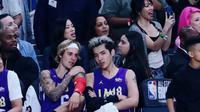 Justin Bieber bersama Kris Wu (dok NBA)