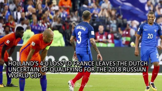 Belanda terancam tak lolos ke putaran final Piala Dunia 2018 setelah tampil kurang impresif pada laga kualifikasi grup A zona Eropa.