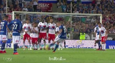 Lyon terlempar dari posisi kedua klasemen setelah ditaklukkan Strasbourg 3-2 pada pertandingan Liga Prancis di Stade de la Meinau....