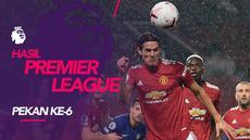 Berita motion grafis hasil Liga Inggris 2020-2021 pekan ke-6. Manchester United dan Arsenal gagal raih kemenangan.