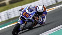 Pembalap Pertamina Mandalika SAG Team di Moto2 2021, Bo Bendsneyder. (Twitter/Pertamina Mandalika SAG Team)