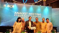 Paparan kinerja keuangan BCA pada 2018, Kamis (28/2/2019) (Foto:Liputan6.com/Maulandy R)