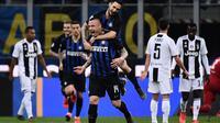 Duel Inter Milan vs Juventus di Giuseppe Meazza, Minggu dini hari WIB (28/4/2019). (AFP/Marco Bertorello)