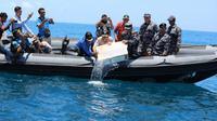Satuan Tugas Gabungan Komando Armada I (Koarmada I) berhasil menggagalkan upaya penyelundupan benih lobster (Foto: Dok Kementerian Kelautan dan Perikanan)