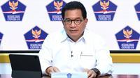 Juru Bicara Satgas Penanganan COVID-19 Wiku Adisasmito menyampaikan Pemerintah akan kelola sistem distribusi vaksin COVID-19 secara terintegrasi saat konferensi pers di Kantor Presiden, Jakarta, Kamis (10/12/2020). (Biro Pers Sekretariat Presiden/Lukas)
