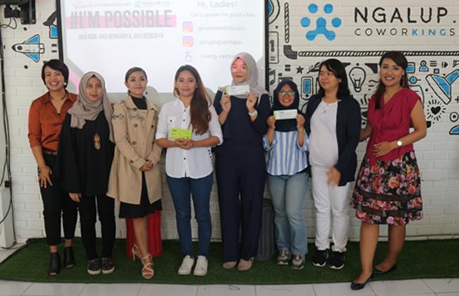 Beberapa peserta yang beruntung mendapat hadiah menarik selama acara/copyright vemale.com
