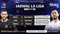 Live streaming pertandingan Liga Spanyol pekan ke-20 dapat disaksikan melalui platform Vidio. (Dok. Vidio)
