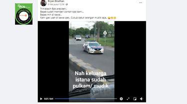 Cek Fakta Liputan6.com menelusuri klaim video rombongan presiden mudik