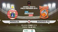 Jadwal Grup D Piala Presiden 2019, Persija Jakarta vs Borneo FC. (Bola.com/Dody Iryawan)