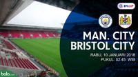 Jadwal Piala Liga Inggris, Manchester City Vs Bristol City. (Bola.com/Dody Iryawan)