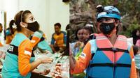Awkarin jadi relawan banjir di Kalimantan Selatan (Sumber: Instagram/awkarin)