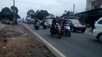 Situasi arus mudik di Garut, Jawa Barat (Liputan6.com/ Jayadi Supriadin)