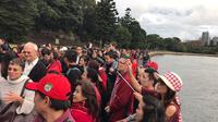 Aksi solidaritas WNI di Sydney dalam menyuarakan dukungan mereka terhadap Ahok (Donny Verdian)