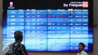 Karyawan tengah memantau pergerakan indeks saham gabungan di Bursa Efek Indonesia, Jakarta, Kamis (10/9/2015). Nilai tukar rupiah terhadap dolar Amerika Serikat (AS) ditutup melemah di posisi Rp 14.329 per dolar AS. (Liputan6.com/Angga Yuniar)