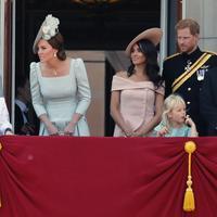 Meghan Markle, Pangeran Harry dan Kate Middleton (AP Photo)