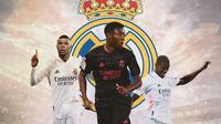 Real Madrid - Kylian Mbappe, David Alaba, Paul Pogba (Bola.com/Adreanus Titus)