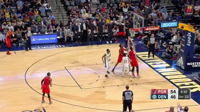 Berita video game recap NBA 2017-2018 antara Denver Nuggets melawan Portland Trail Blazers dengan skor 88-82.