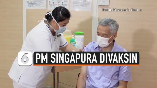 Perdana Menteri Singapura Lee Hsien Loong menerima vaksin Pfizer BioNTech dosis pertama pada Jumat (8/1), siang waktu setempat. Penyuntikan vaksin dilakukan di Singapore General Hospital.