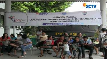 YPAPK bekerja sama dengan Yayasan Cahaya Sinar Bangsa gelar sunatan massal dan donor darah di permukiman warga di kawasan Pamulang, Tangsel.