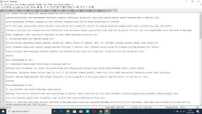 Notepad++ (Doc: Notepad++)