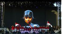 Gaya 3 Musisi Tanah Air di Panggung Musik Amerika, Bawakan Lagu Indonesia Raya (sumber:Twitter/@rarambol)