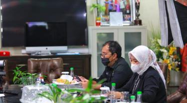 Wali Kota Makassar Danny Pomanto dan Wakilnya Fatmawati Rusdi (Liputan6.com/Fauzan)